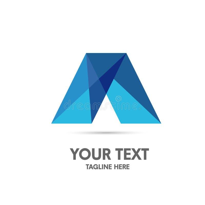 Letra elegante um conceito do logotipo ilustração stock