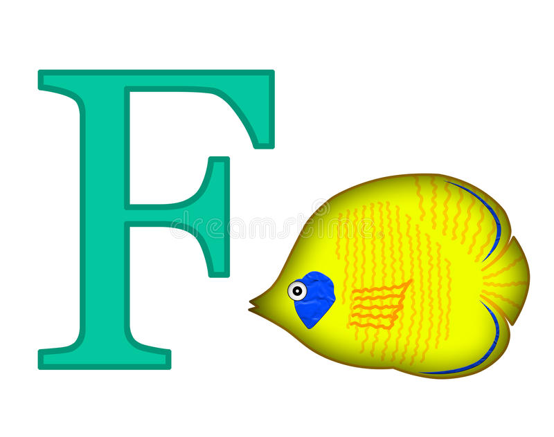 Letra F stock de ilustración