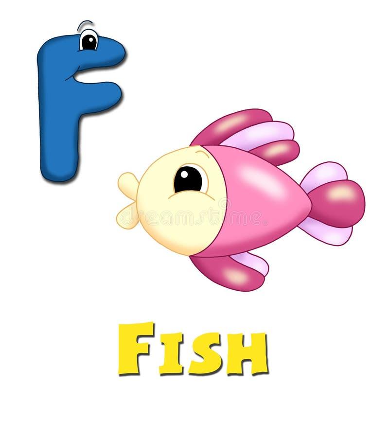 Letra F ilustración del vector