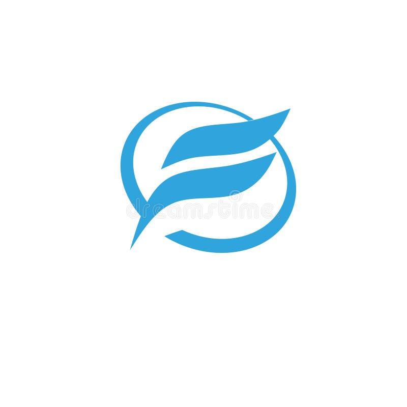Letra f con el logotipo del círculo libre illustration