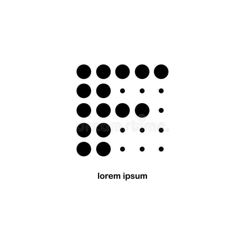 Letra F Dot Logo Icon imagen de archivo