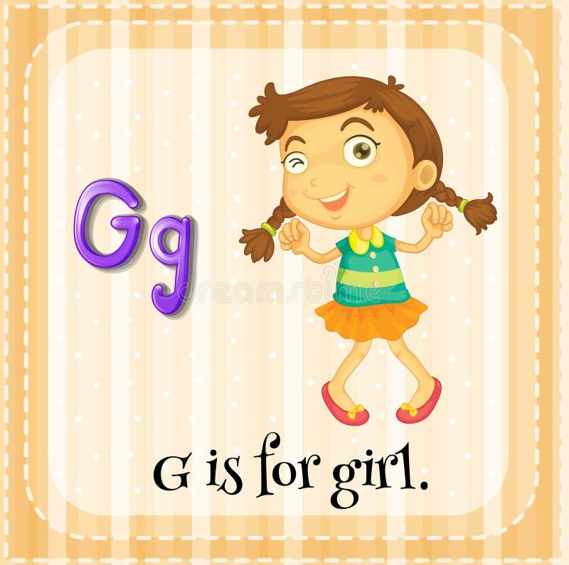 Letra G ilustração stock