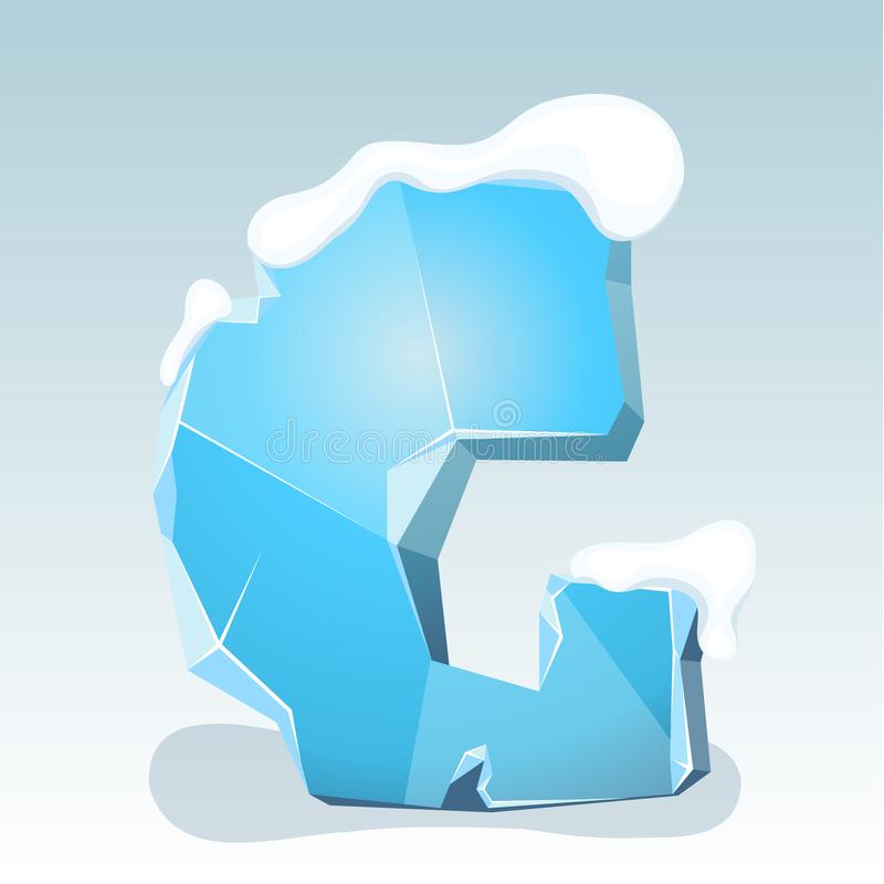 Letra G del hielo ilustración del vector