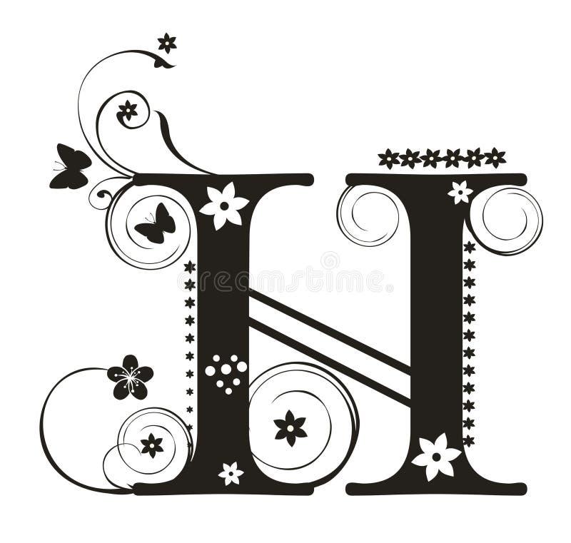 Letra H stock de ilustración
