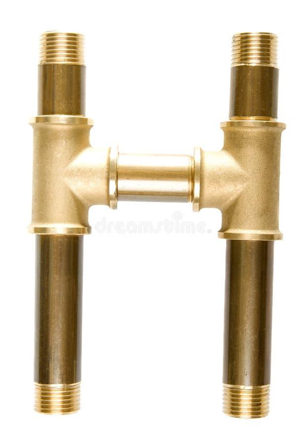 Letra H das tubulações de água imagens de stock royalty free