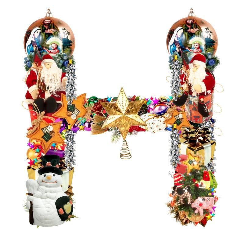 Download Letra H, Para La Decoración De La Navidad Stock de ilustración - Ilustración de comercial, sombrero: 7287524