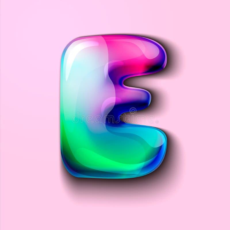 Letra holográfica moderna E r r o Um medidor da tensão de C ilustração stock