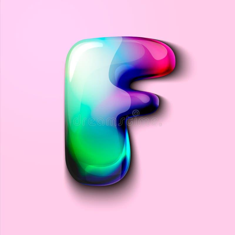 Letra holográfica moderna F r r o Um medidor da tensão de C ilustração royalty free