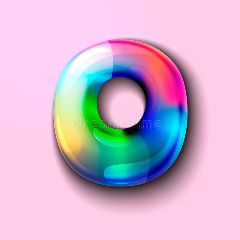 Letra holográfica moderna O r r o Um medidor da tensão de C ilustração stock