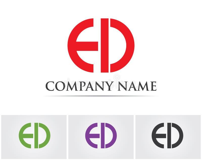 Letra iconos de la plantilla del logotipo de e d libre illustration