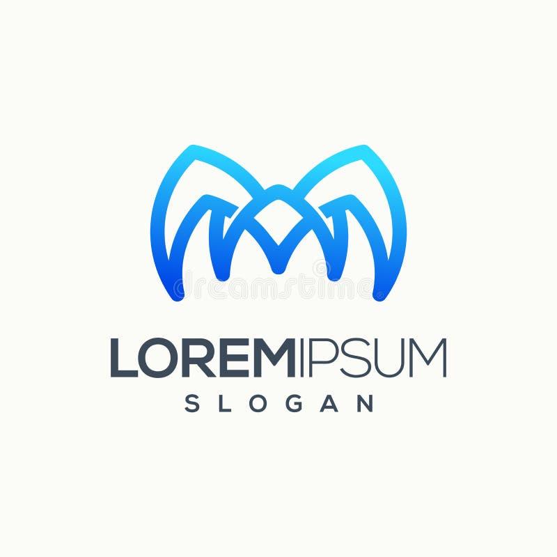 Letra impresionante un ejemplo del vector del diseño del logotipo listo para utilizar libre illustration