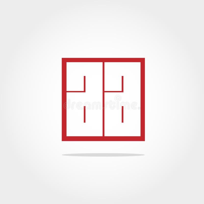 Letra inicial AA Logo Template Vetora Design ilustração stock