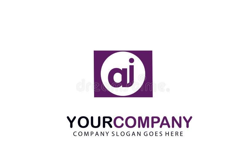 Letra inicial AJ en un círculo Logo Vector Business Design ilustración del vector