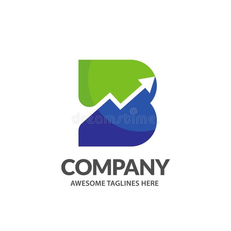 Letra inicial creativa b con la flecha encima del logotipo libre illustration