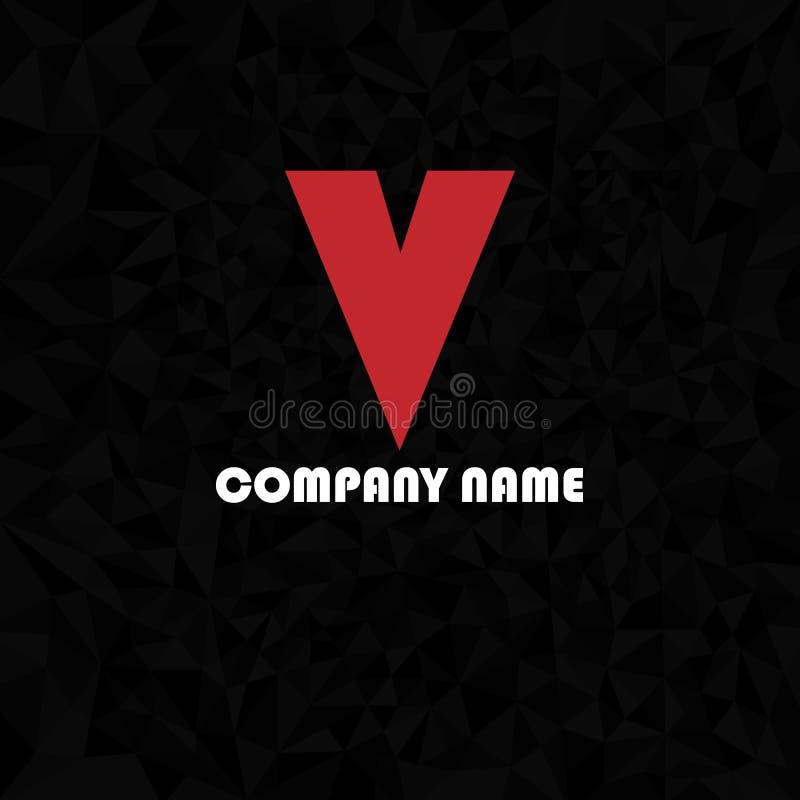 Letra inicial V do sinal do vetor ilustração do vetor