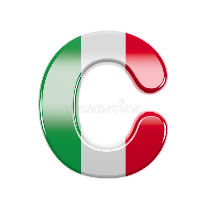 A letra italiana C - fonte principal da bandeira de 3d Itália - apropriada para Itália, Europa ou Roma relacionou assuntos ilustração royalty free
