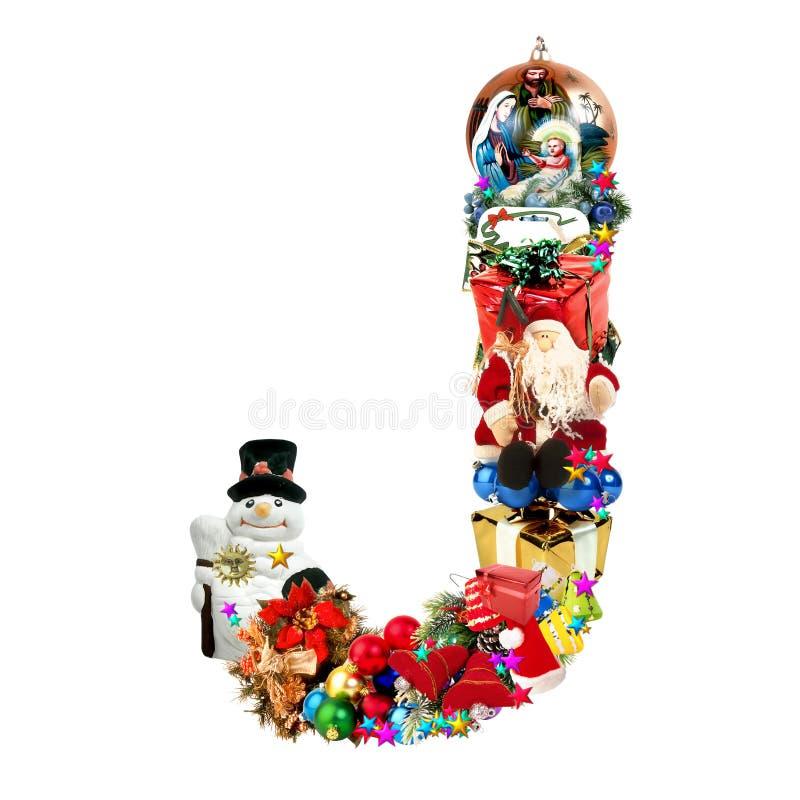 Download Letra J, Para La Decoración De La Navidad Stock de ilustración - Ilustración de festividad, feliz: 7287539