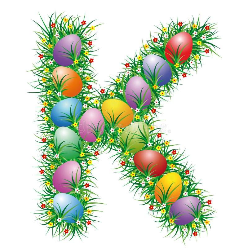 Letra K de Pascua stock de ilustración