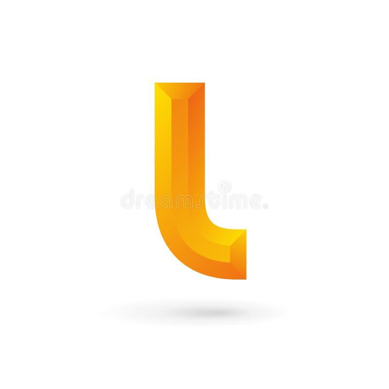 Letra L elementos de la plantilla del diseño del icono del logotipo ilustración del vector