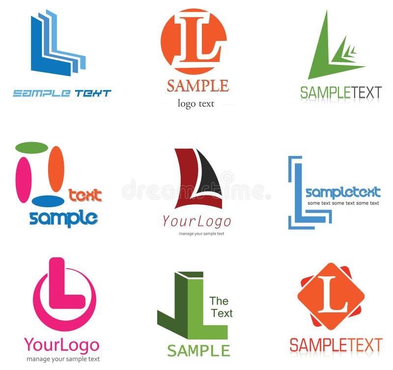 Letra L insignia ilustración del vector
