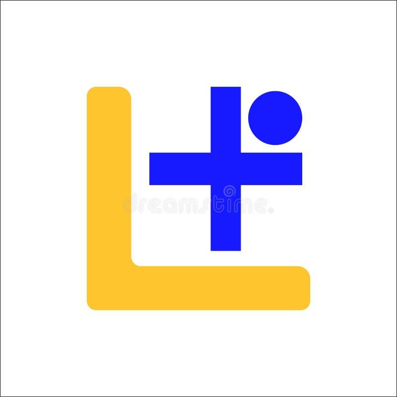 Letra L insignia En ilustración del vector