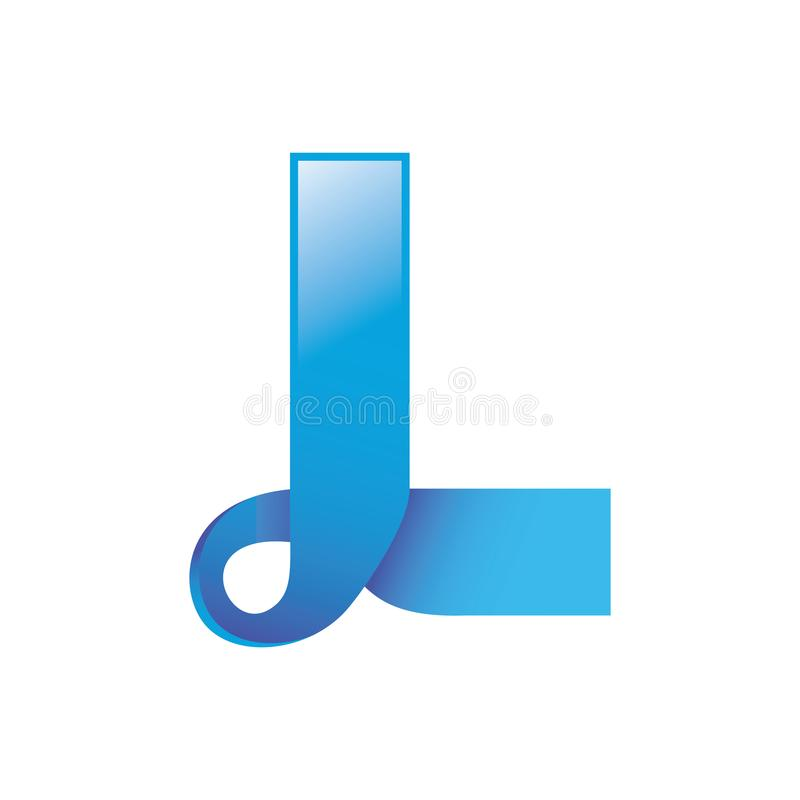 Letra L Logo Gradient Vetora ilustração royalty free