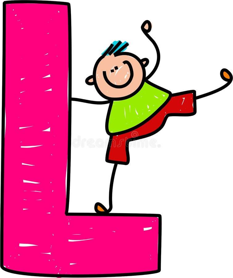 Letra L muchacho ilustración del vector