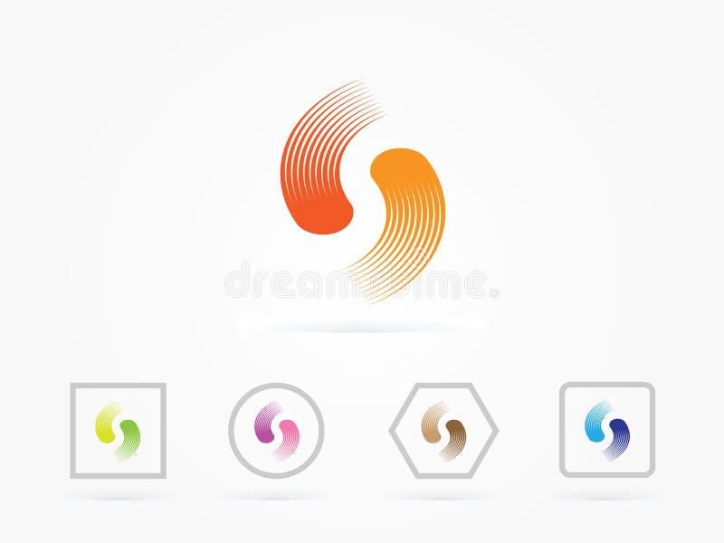 Letra Logo Design colorido da ilustração S do vetor imagens de stock