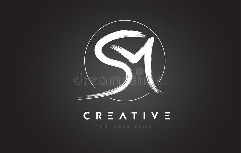 Letra Logo Design da escova da manutenção programada Logotipo escrito à mão artístico C das letras ilustração do vetor