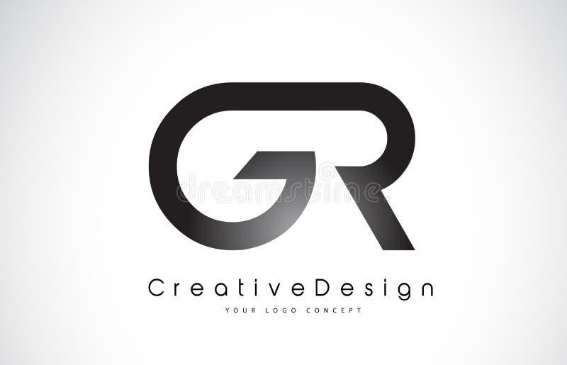 Letra Logo Design de GR G R Vector moderno L de las letras del icono creativo libre illustration