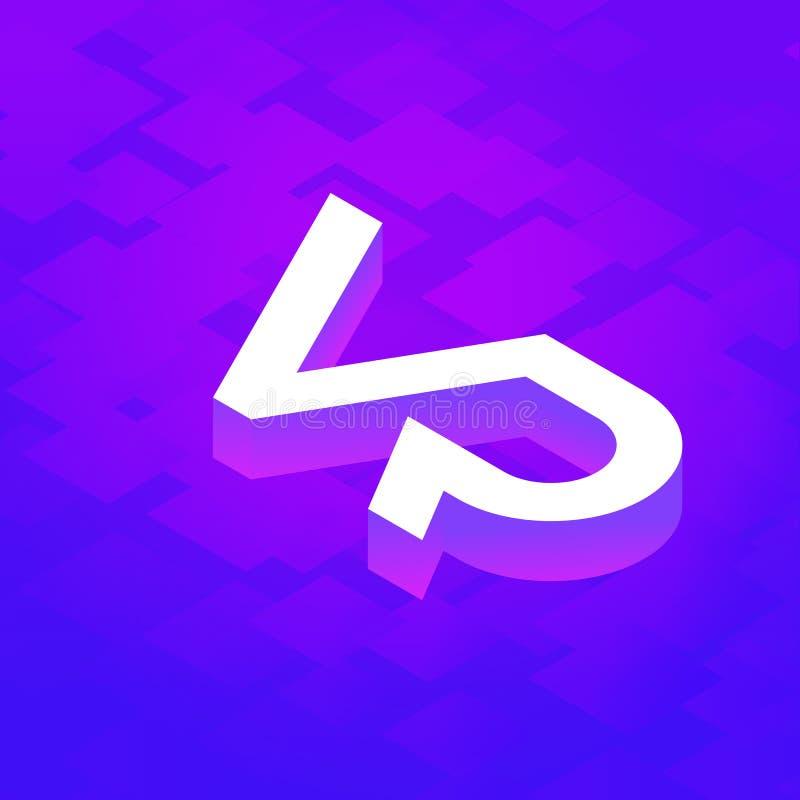 Letra Logo Design de VR stock de ilustración