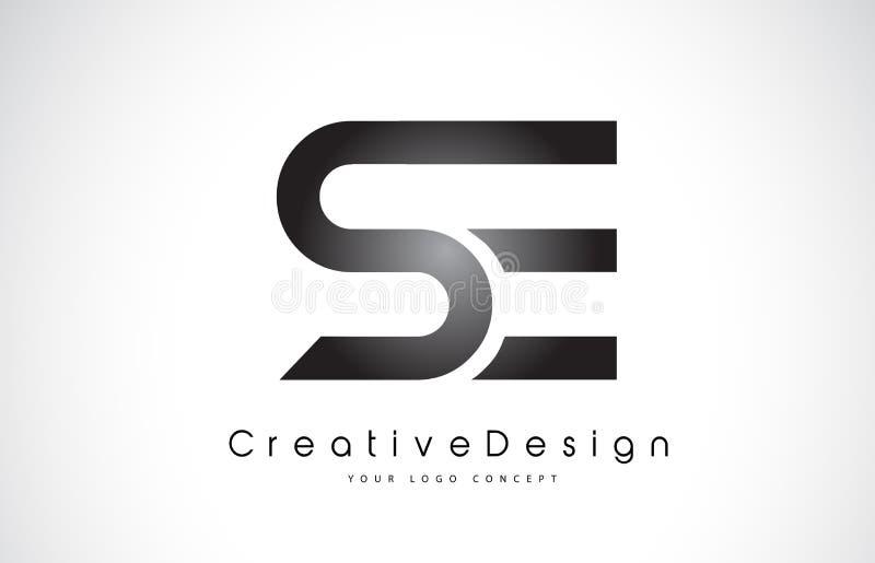Letra Logo Design del SE S E Vector moderno L de las letras del icono creativo ilustración del vector