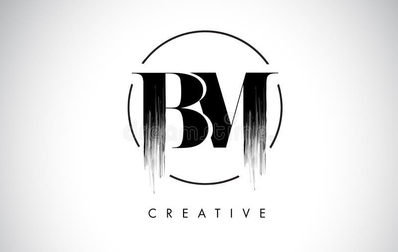 Letra Logo Design do curso da escova do BM Pintura preta Logo Leters Icon ilustração royalty free