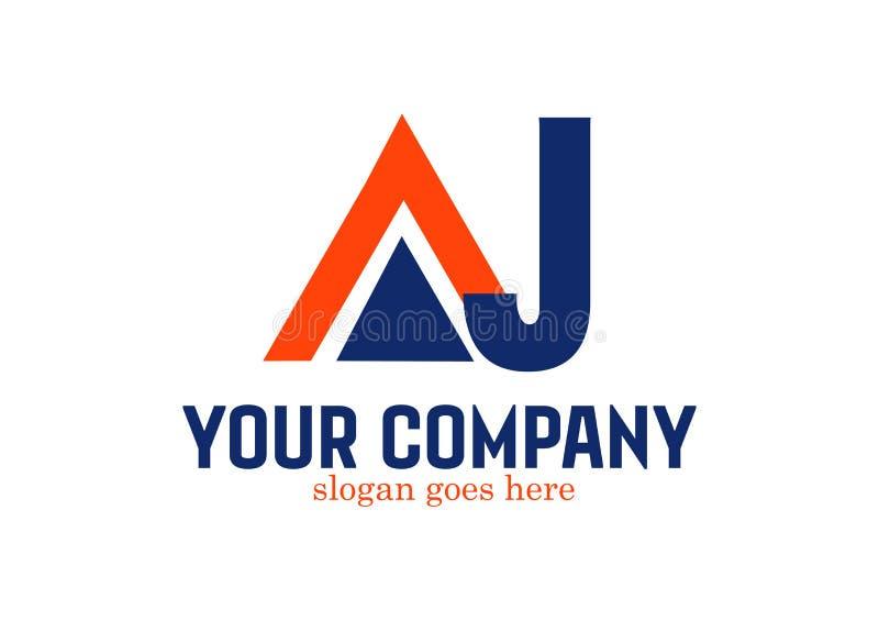 Letra Logo Design Vetora AJ ilustração do vetor