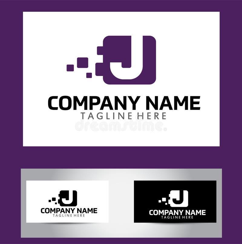 Letra logo design vetora business card de j ilustrao do vetor download letra logo design vetora business card de j ilustrao do vetor ilustrao de moderno reheart Choice Image