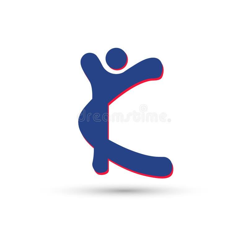 Letra Logo Design Vetora de K ilustração royalty free