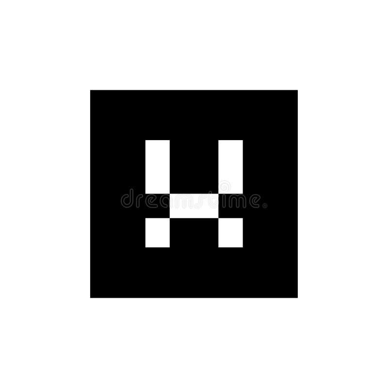 Letra X Logo Icon, combinado con la casilla negra libre illustration