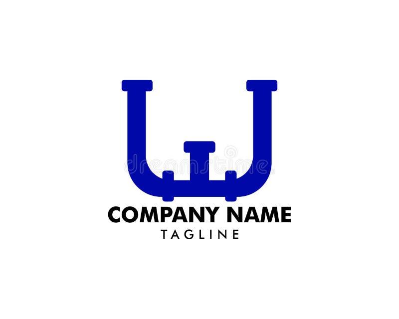 Letra Logo Icon Design da tubulação de W ilustração royalty free