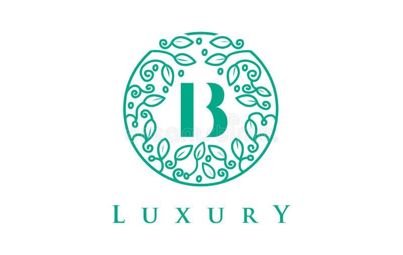 Letra Logo Luxury de B Logotipo dos cosméticos da beleza ilustração stock