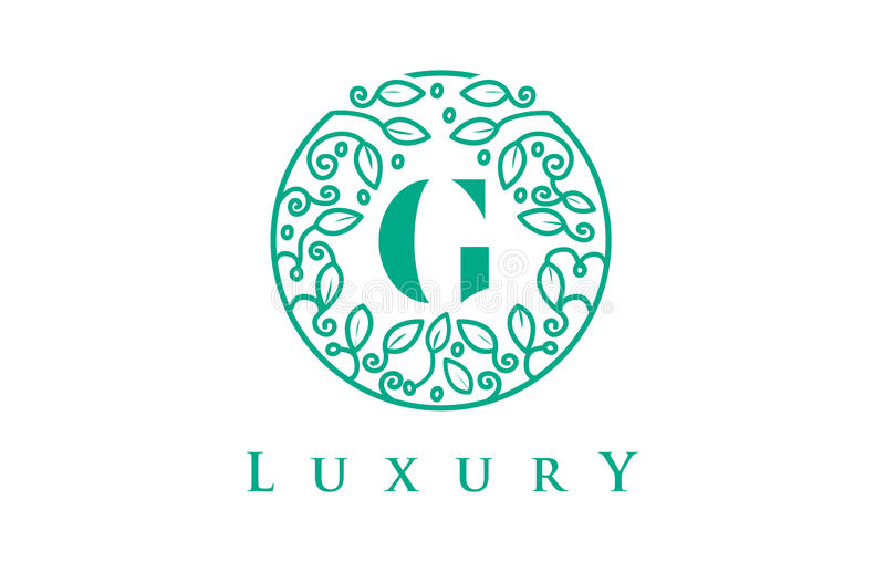 Letra Logo Luxury de G Logotipo dos cosméticos da beleza ilustração do vetor