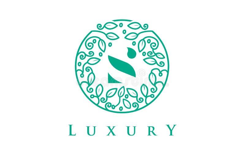 Letra Logo Luxury de S Logotipo dos cosméticos da beleza ilustração royalty free