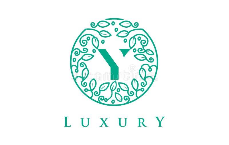 Letra Logo Luxury de Y Logotipo dos cosméticos da beleza ilustração do vetor