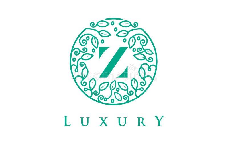 Letra Logo Luxury de Z Logotipo dos cosméticos da beleza ilustração do vetor