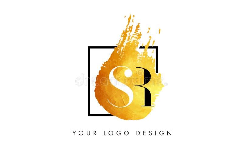 Letra Logo Painted Brush Texture Strokes del oro del SENIOR libre illustration