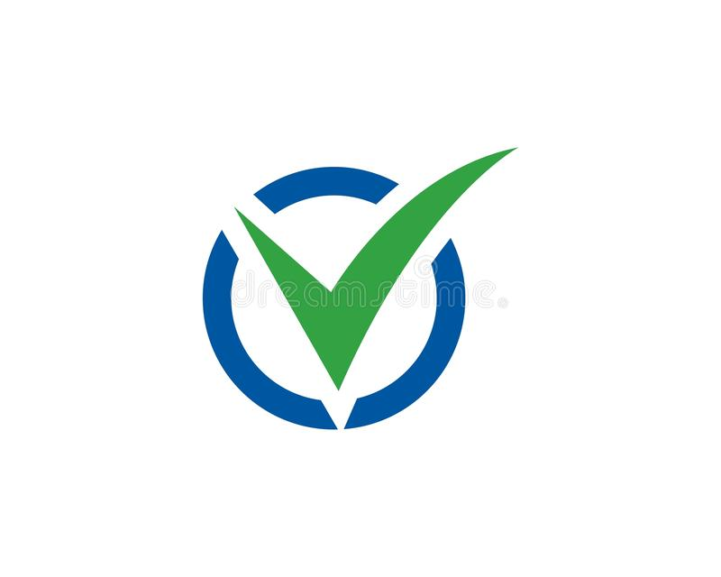 Letra Logo Template da marca de verificação V ilustração do vetor
