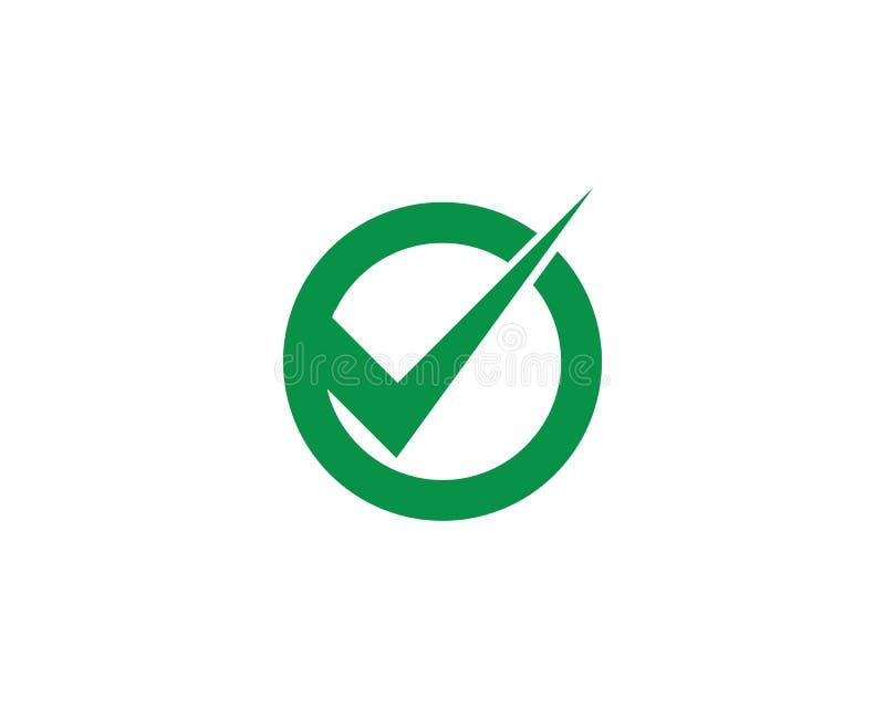 Letra Logo Template da marca V de Logo Template Check da letra de V ilustração royalty free