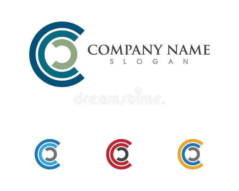 Letra Logo Template de C ilustración del vector