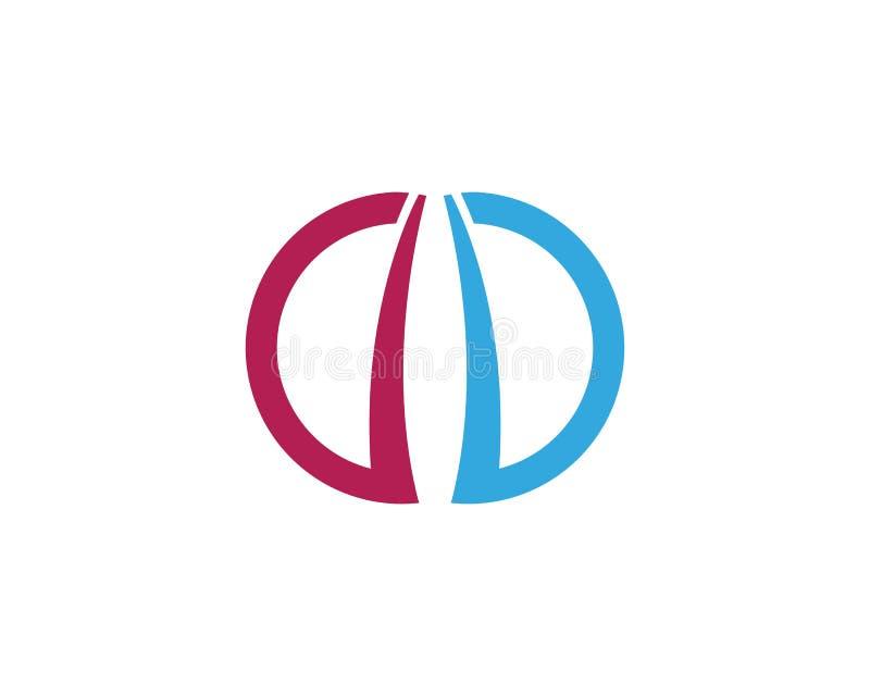Letra Logo Template de C ilustração stock