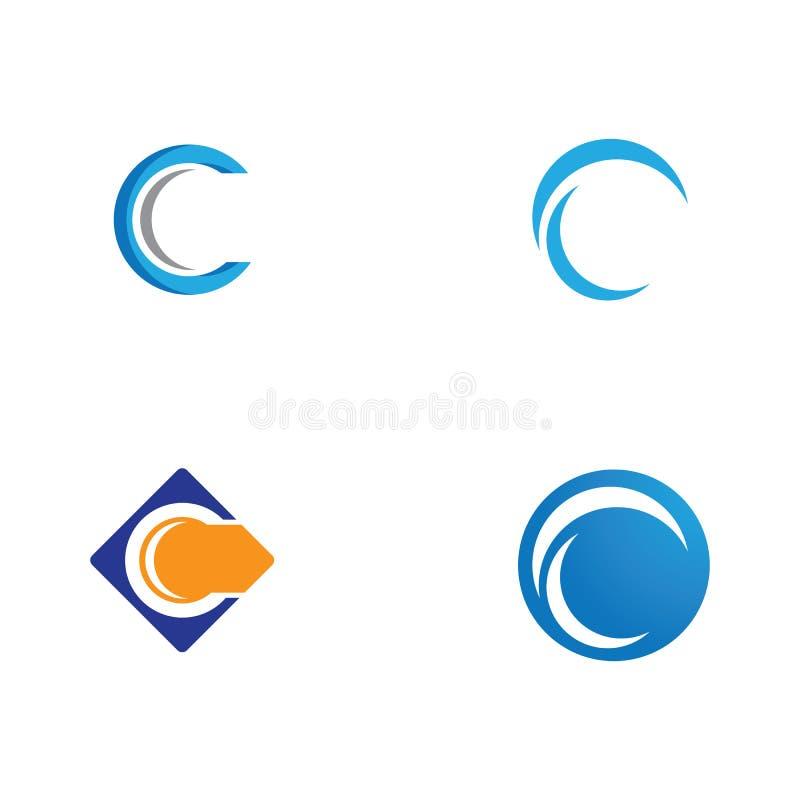 Letra Logo Template de C ilustração do vetor