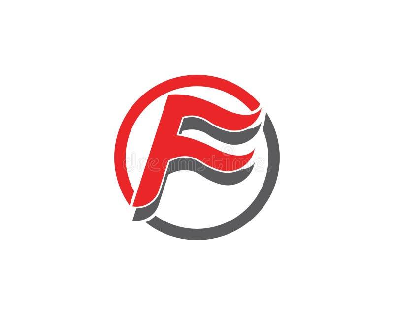 Letra Logo Template de F ilustração royalty free